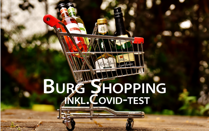 Burg Shopping med Covid-test, 1 dag