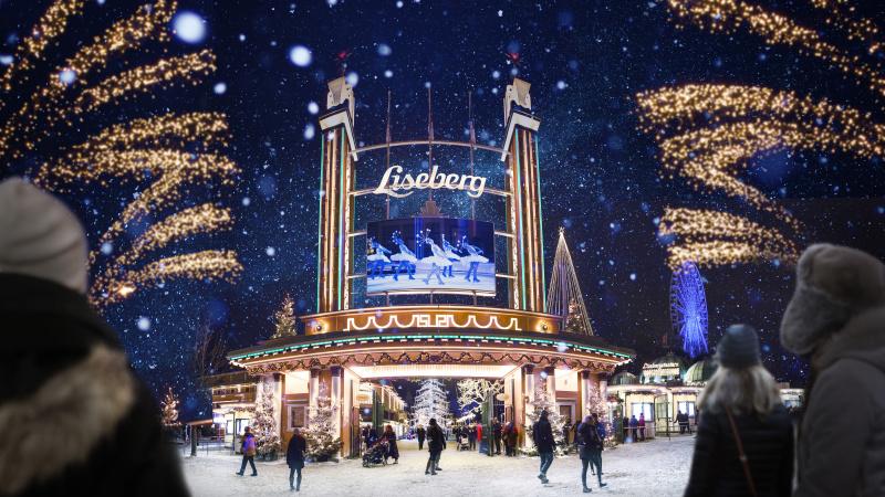 Göteborg med Lisebergs julmarknad, s