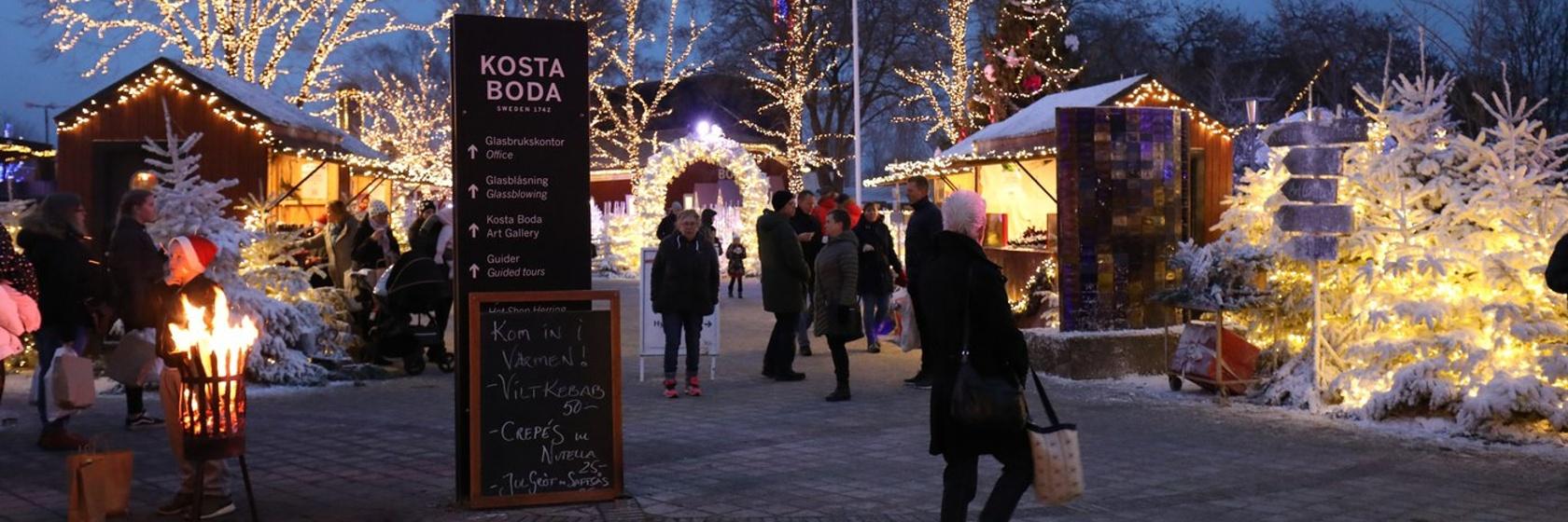Julmarknad Kosta Boda